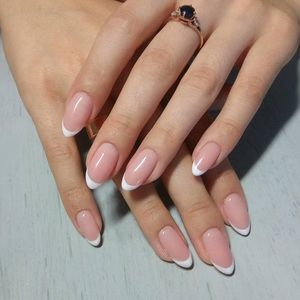 NEW! Modern French Nail Set (2) with Glue Pack
